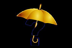 Otáznik s dáždnikom